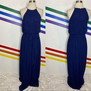 NEW Donna Morgan Alana navy blue dress gown